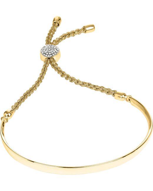 Monica Vinader - Black Fiji 18ct Gold-plated And Pavé-diamond Friendship Bracelet - Lyst