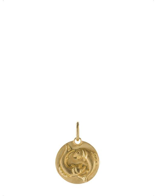 Annoushka - Pisces 18ct Yellow Gold Pendant - Lyst