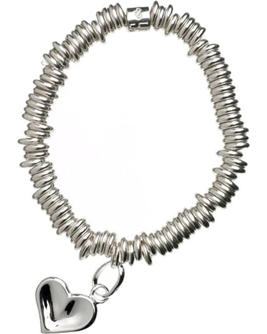 Links of London | Metallic Sweetie Heart Sterling Silver Bracelet | Lyst