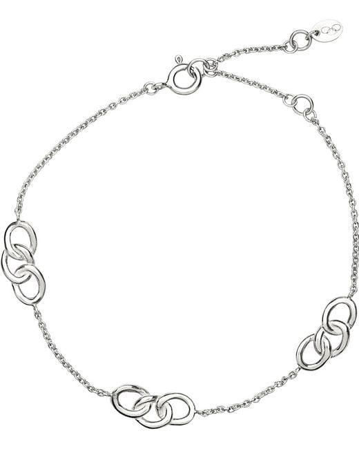 Links of London | Metallic Sterling Silver Signature 3 Station Bracelet | Lyst