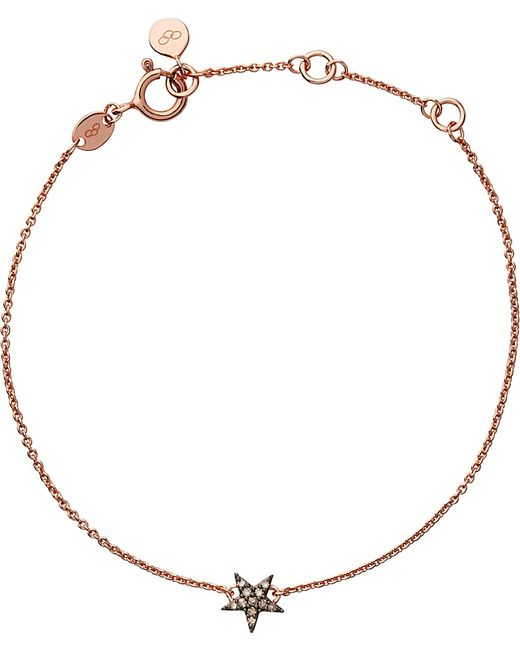 Links of London | Pink Diamond Essentials 18ct Rose Gold-vermeil And Diamond Bracelet | Lyst