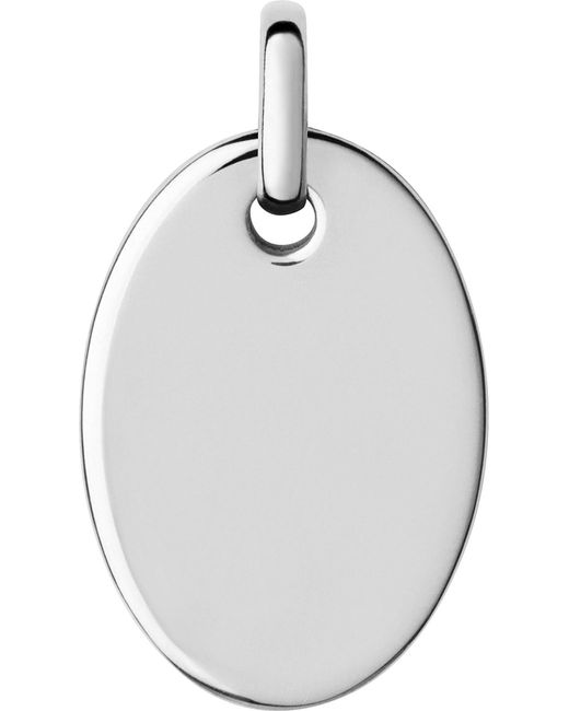 Links of London   Metallic Narrative Sterling Silver Small Oval Disc Pendant   Lyst
