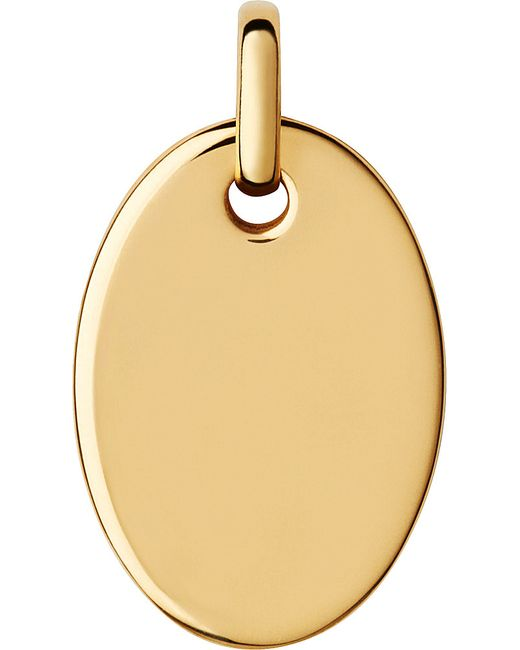 Links of London | Narrative Yellow-gold Vermeil Small Oval Disc Pendant | Lyst
