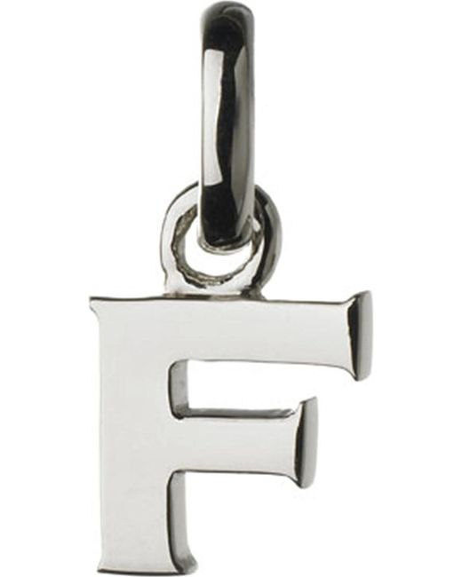 Links of London | Metallic Alphabet F Sterling Silver Charm | Lyst