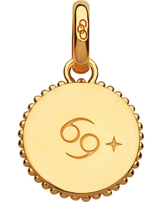 Links of London | Cancer 18ct Yellow-gold Vermeil Zodiac Charm | Lyst