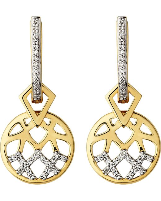 Links of London | Metallic Timeless Gold 18ct Yellow-gold And Diamond Earrings | Lyst