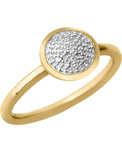 Links of London | Metallic Diamond Essentials 18-carat Yellow-gold Vermeil And Diamond Ring | Lyst
