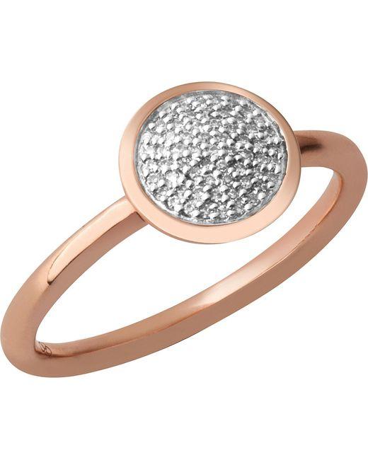 Links of London | Metallic Diamond Essentials 18ct Rose-gold Vermeil And Diamond Ring | Lyst