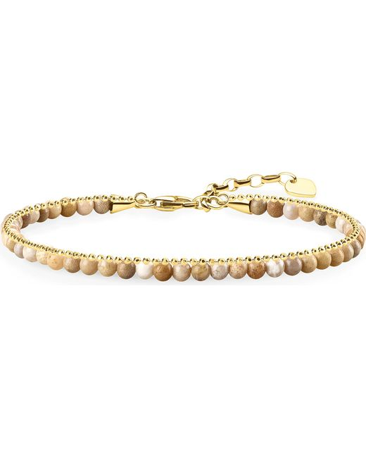Thomas Sabo - Metallic Chakra 18ct Yellow Gold And Jasper Bracelet - Lyst