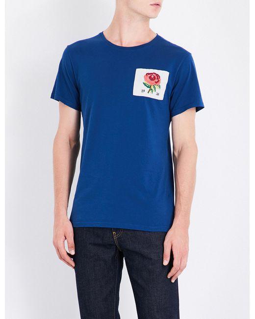Kent & Curwen | Blue Rose 1926 Cotton T-shirt for Men | Lyst