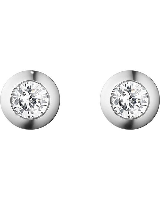 Georg Jensen | Aurora 18ct White-gold And Diamond Earrings | Lyst