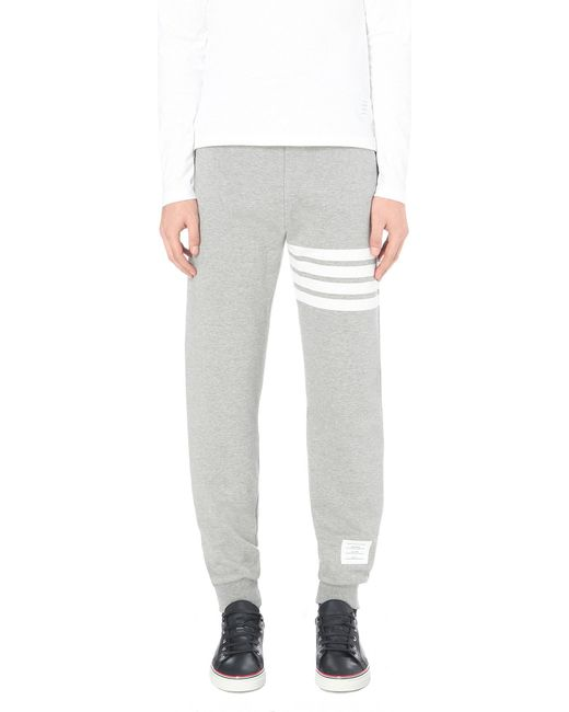 Thom Browne | Gray Striped Cotton-jersey Jogging Bottoms for Men | Lyst