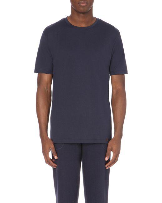 Hanro | Black Superior Crewneck T-shirt for Men | Lyst