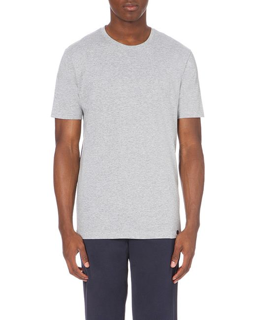Hanro | Gray Superior Crewneck T-shirt for Men | Lyst