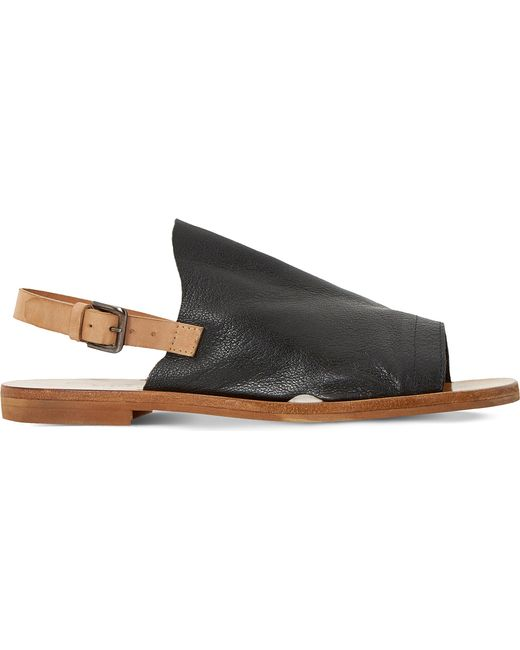 Dune Black | Black Lilymay Leather Sandals | Lyst