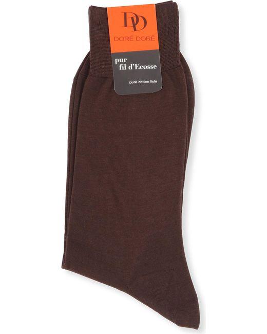 Doré Doré - Brown Knitted Cotton Socks for Men - Lyst