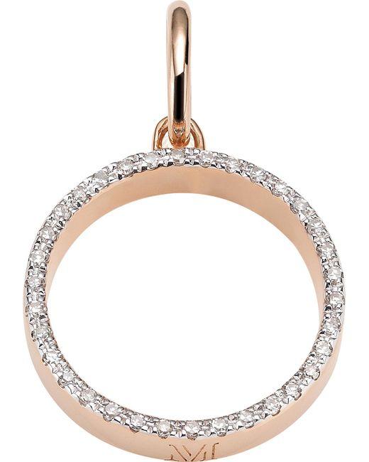 Monica Vinader - Metallic Naida 18ct Rose-gold Vermeil And Diamond Pendant - Lyst