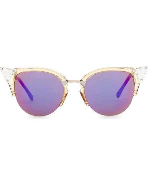 Fendi - Multicolor Ff0041 Cat-eye Sunglasses - Lyst