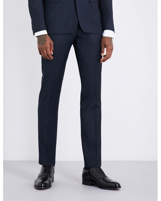 Sandro   Blue Slim-fit Wool Trousers for Men   Lyst