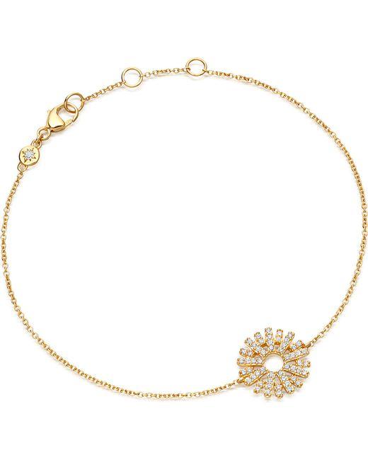 Astley Clarke | Metallic Rising Sun 14ct Yellow Gold And Diamond Bracelet | Lyst
