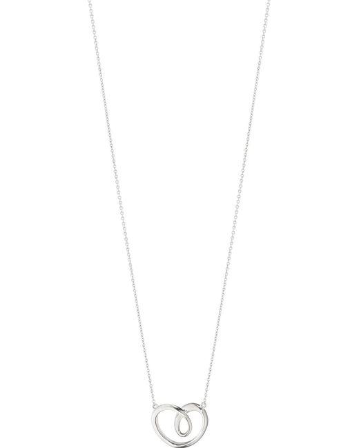 Georg Jensen | Metallic Sterling Silver Large Heart Pendant | Lyst