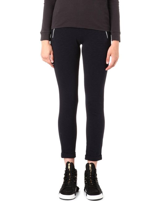 The Kooples Sport | Blue Yoga Zip-pocket Jogging Bottoms | Lyst