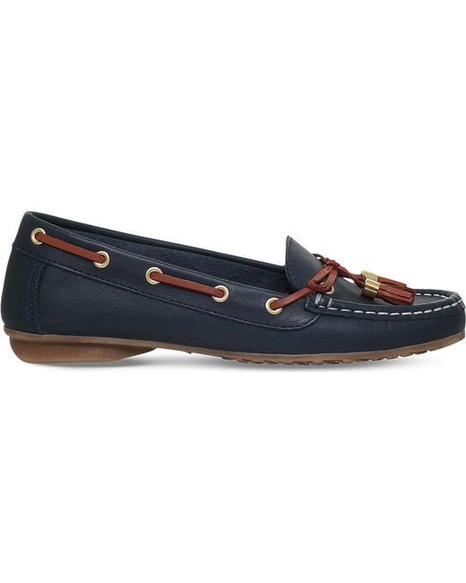 Nine West - Blue Jerry Tasselled Leather Loafers - Lyst