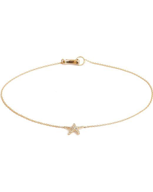 Annoushka - Metallic Love Diamonds 18ct Yellow-gold Starfish Bracelet - Lyst
