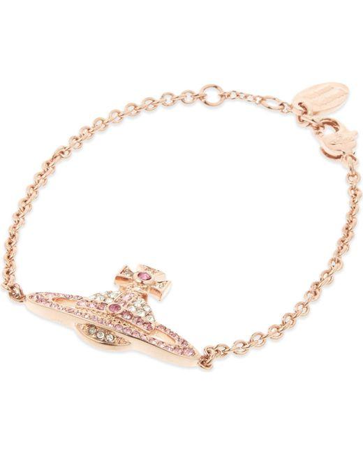 Vivienne Westwood - Pink Kika Saturn Orb Bracelet - Lyst