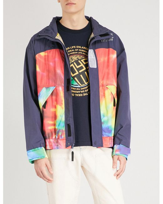 BBCICECREAM - Blue Tie-dye Shell Jacket for Men - Lyst