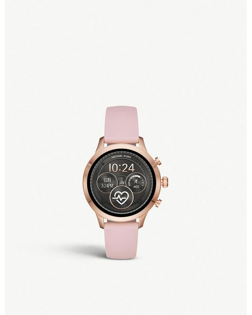3ee98d5a83fb Michael Kors - Pink Mkt5055 Runway Rose-gold Plated Stainless Steel And  Rubber Watch -