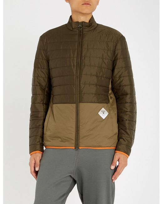 Barbour - Green Quilted Shell Jacket for Men - Lyst