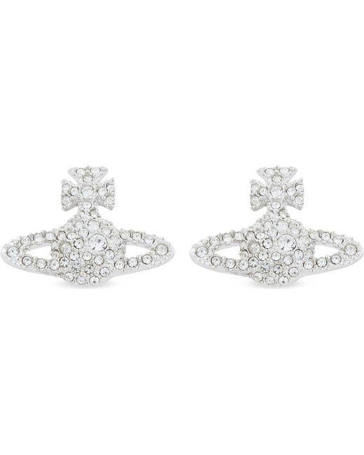 Vivienne Westwood - Black Grace Bas Relief Pavé Orb Stud Earrings - Lyst