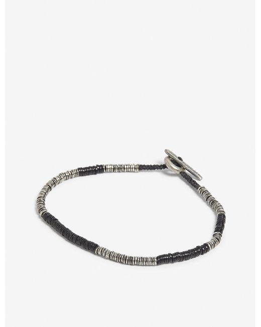 M. Cohen - Metallic Sterling Silver And Vinyl Bracelet for Men - Lyst