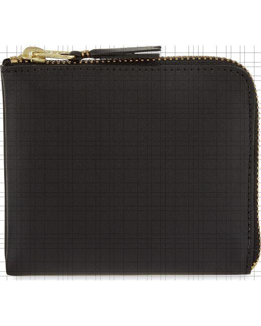 Comme des Garçons - Black Ladies Leather Half-zip Wallet - Lyst