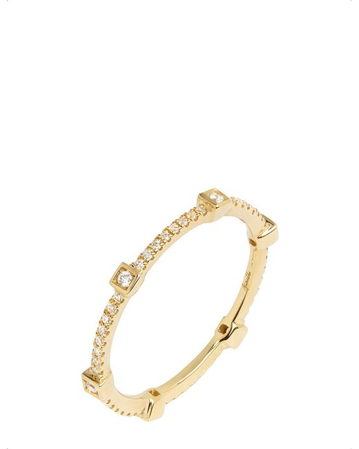 Annoushka - Black 18ct Yellow Gold And Diamond Eternity Ring - Lyst
