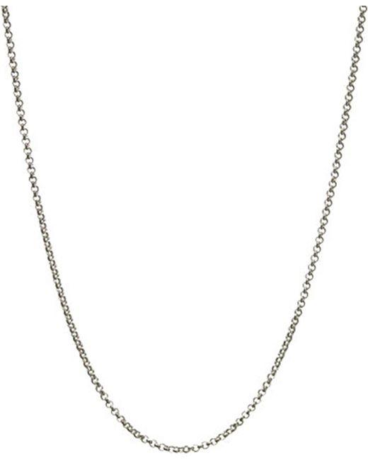 Links of London | Metallic Mini Belcher Sterling Silver Chain 42cm | Lyst