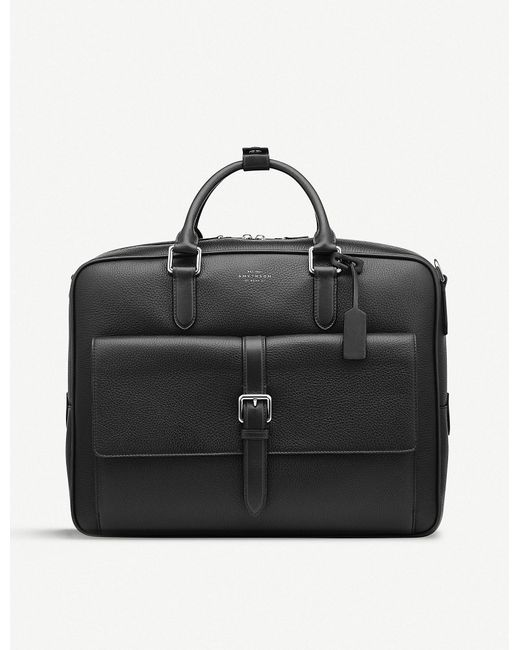 Smythson - Black Burlington Large Leather Briefcase for Men - Lyst