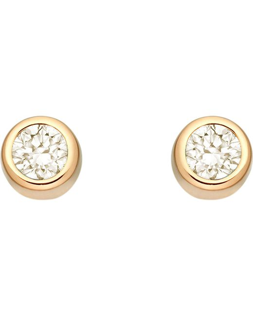 Astley Clarke | Multicolor Mini Stilla 18ct Yellow Gold-plated And Moonstone Stud Earrings | Lyst
