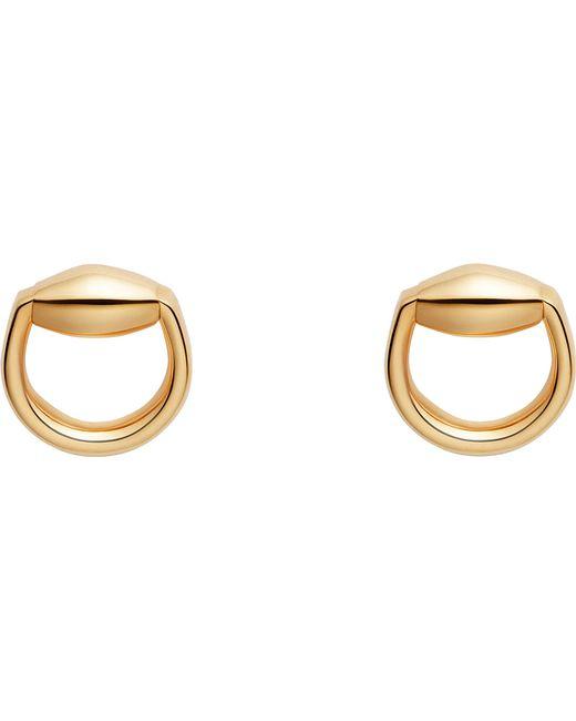 Gucci   Metallic Horsebit 18ct Gold Stud Earrings   Lyst