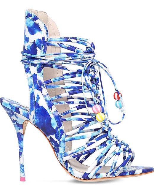 Sophia Webster | White Lacey Oceana Beaded Beachball Lace Up Sandal | Lyst