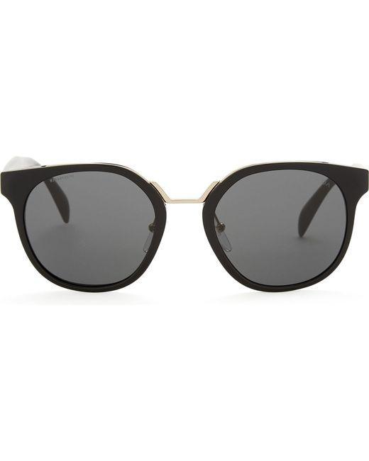 Prada - Womens Black Pr17ts Square-frame Sunglasses - Lyst