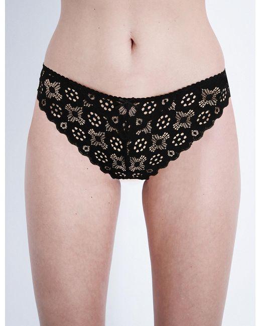 Fleur du Mal | Black Crochet Lace Cheeky Briefs | Lyst