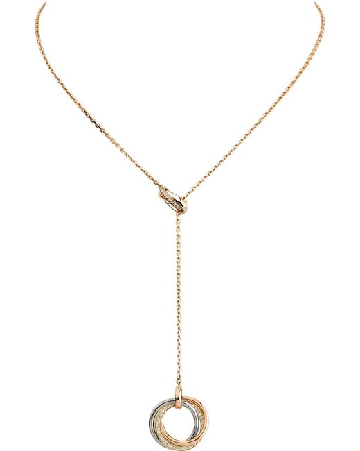 Cartier - Metallic Two For Trinity 18ct Gold Necklace - Lyst