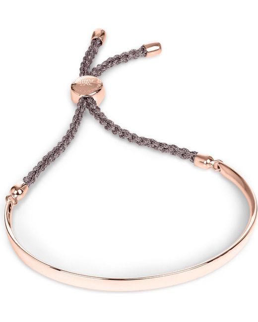 Monica Vinader - Metallic Fiji 18ct Rose Gold-plated Friendship Bracelet - Lyst