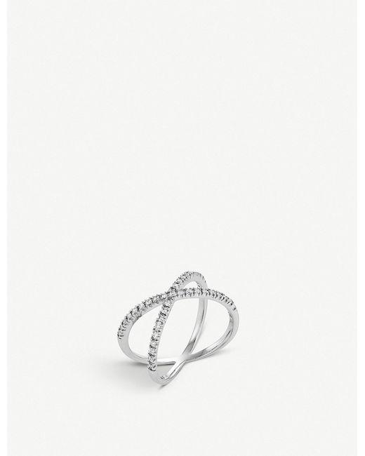 BUCHERER JEWELLERY - Metallic Geometrix 18ct White-gold And Diamond Ring - Lyst