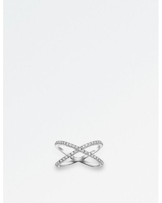 BUCHERER JEWELLERY - Geometrix 18ct White-gold And Diamond Ring - Lyst