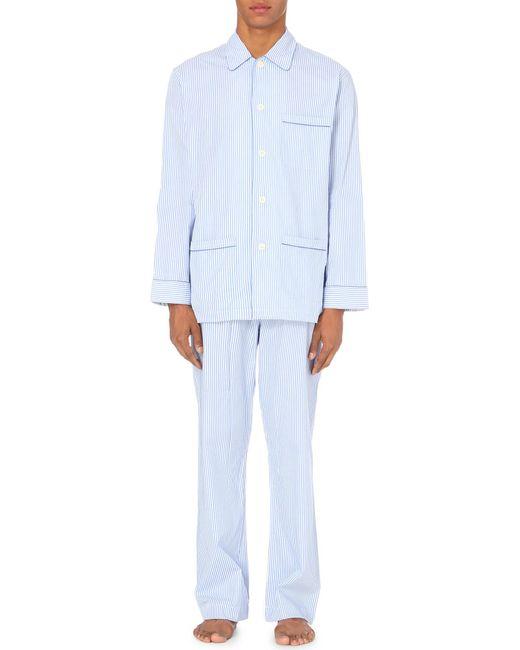 Derek Rose - Blue Bengal Stripe Pyjama Set for Men - Lyst
