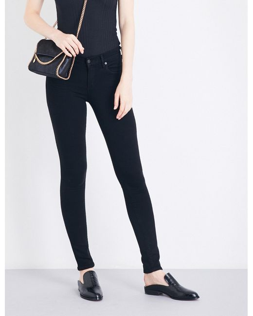 Citizens of Humanity - Black Ladies Avedon Ultra-skinny Mid-rise Jeans - Lyst