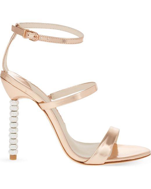 Sophia Webster | Pink Rosalind Crystal-embellished Leather Sandals | Lyst